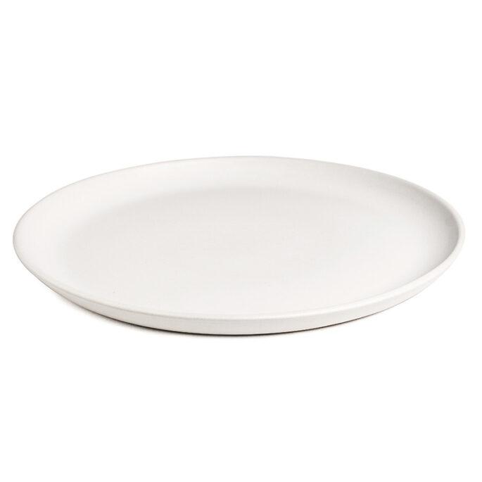 La grande assiette EDAN Blanc mat