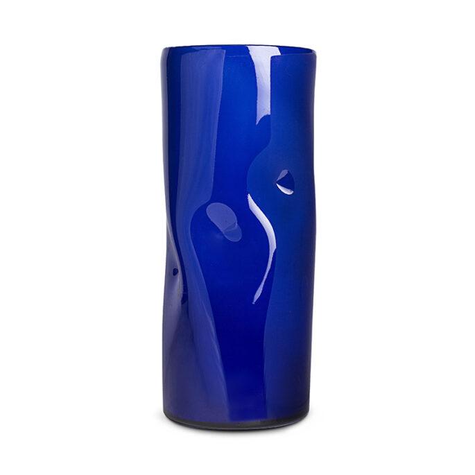 Le vase à pinces bleu cobalte