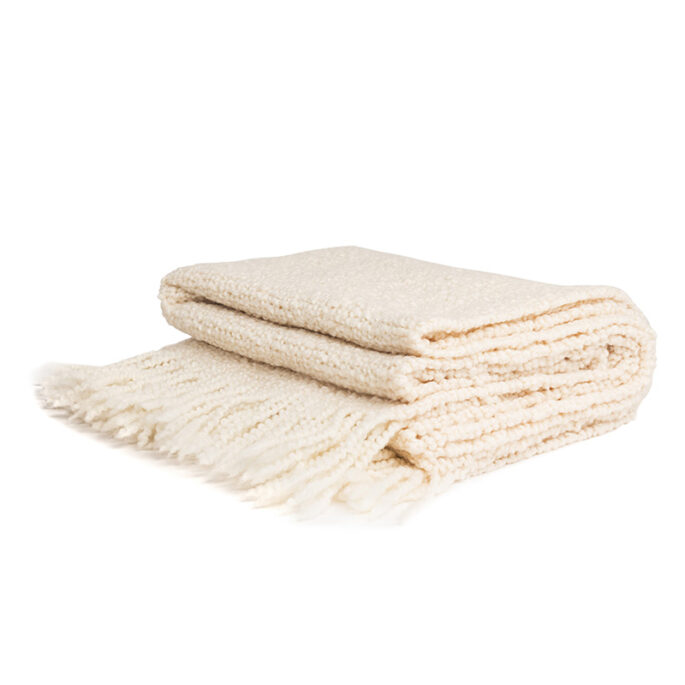 Jeté en tricot Blanc