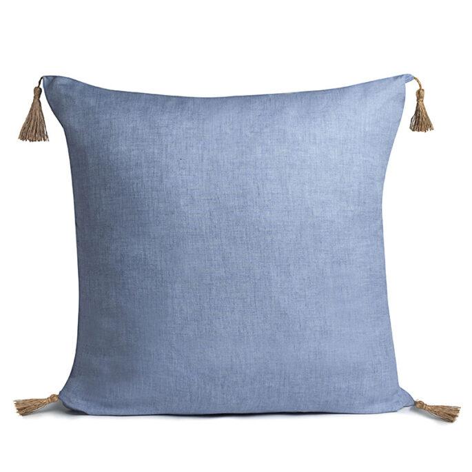 Le carré en Lin Bleu